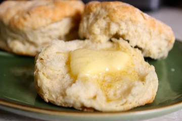 Buttermilk Biscuits with Melting Butter