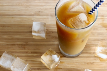 Cold brew iced coffee in a glass