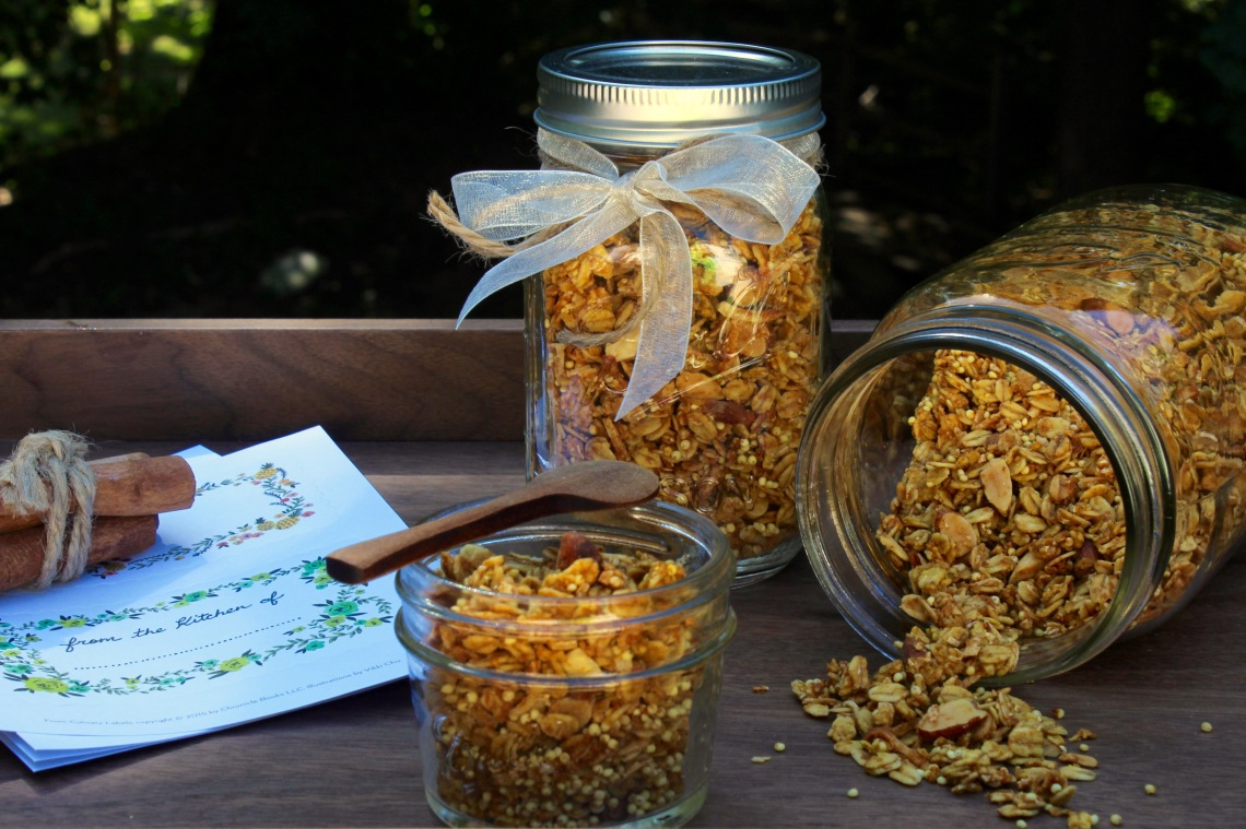Pumpkin Pie Granola in Jars