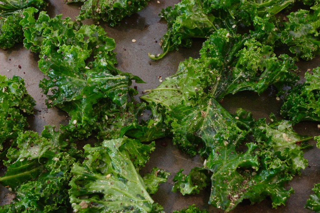 add seasonings to kale