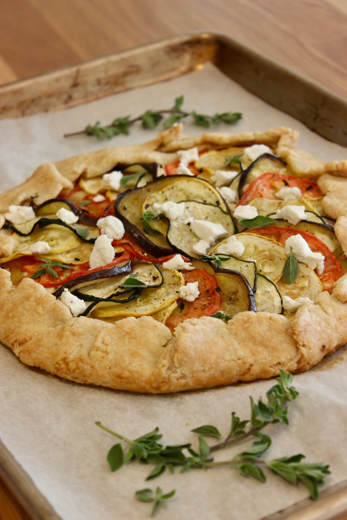 Baked Ratatouille Galette