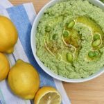 Pea and Parsley Dip in a bowl
